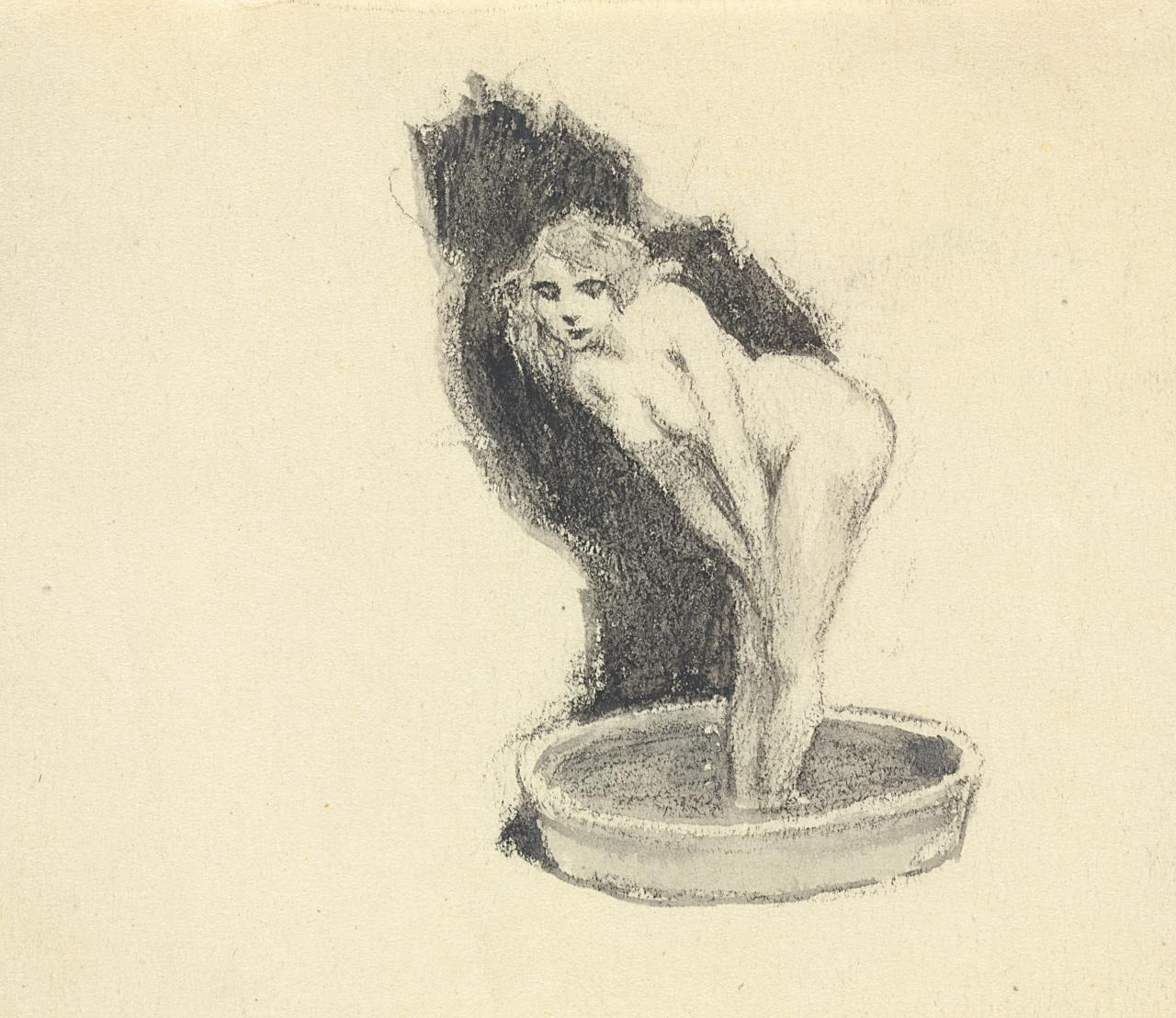 Chapter heading (Naked woman standing in tub)