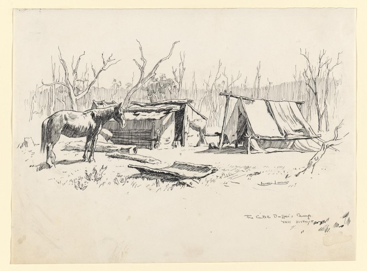 The cattle duffer's camp, Yass district