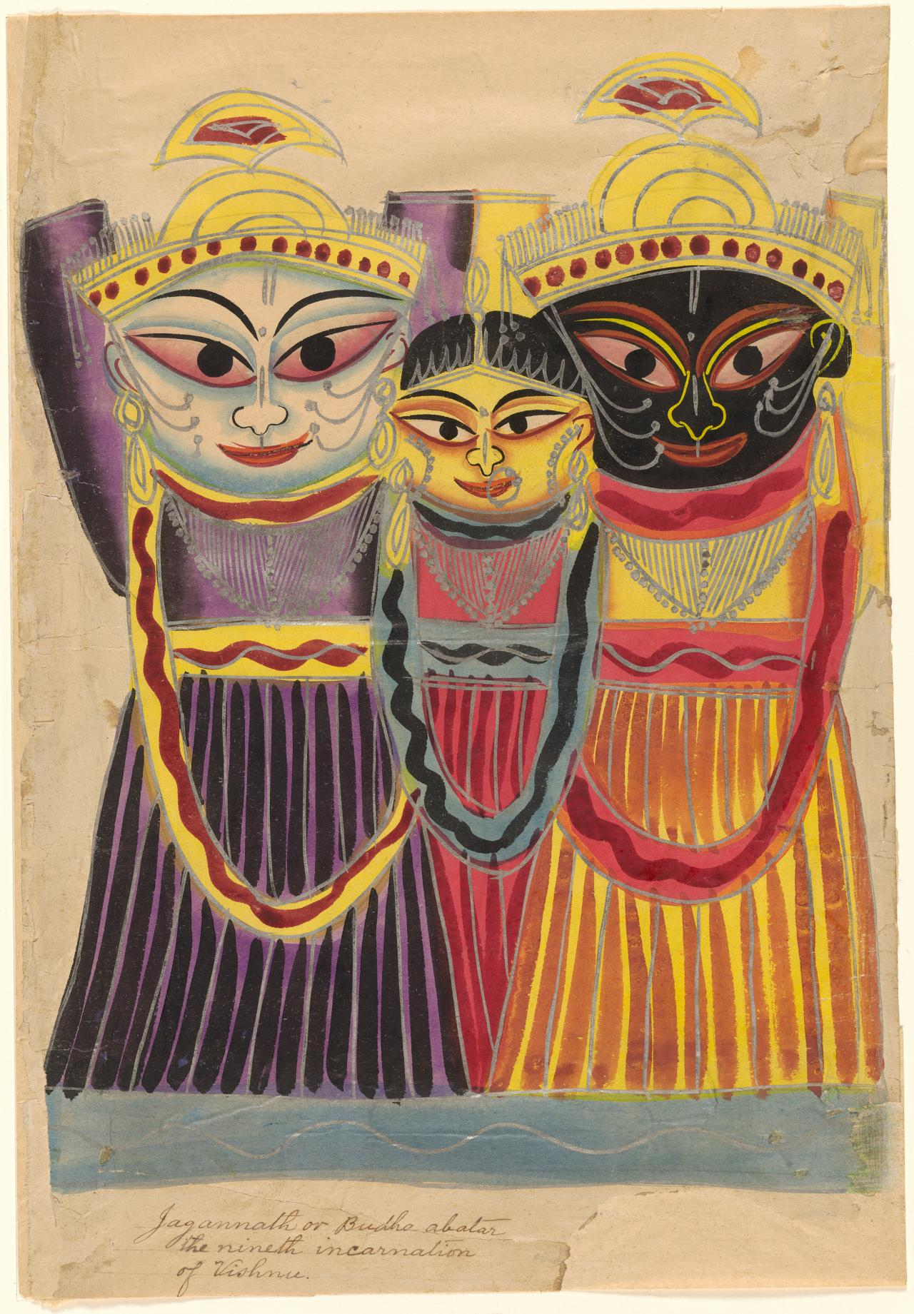 The Jagannatha trio: Balbhadra, Suehadra and Jagannatha