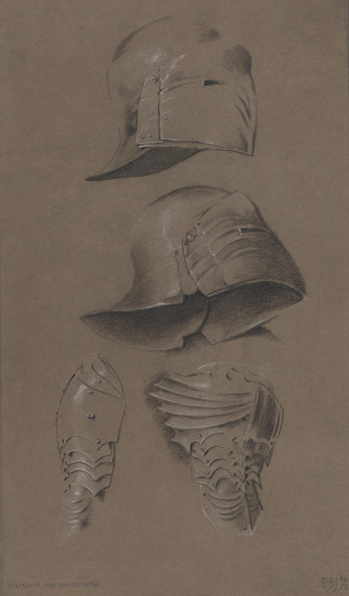 Studies of armour for The Briar Wood