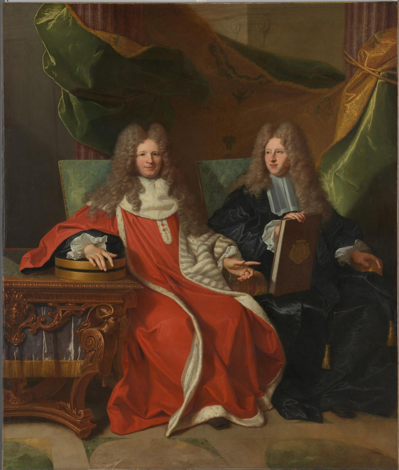 Monsieur Le Bret and his son, Cardin Le Bret