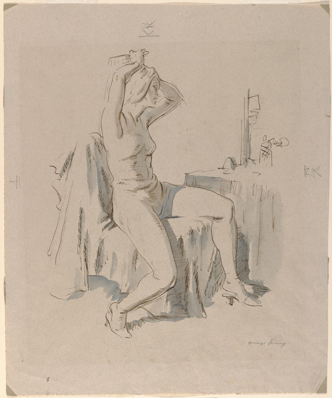 Dancer at the dressing table