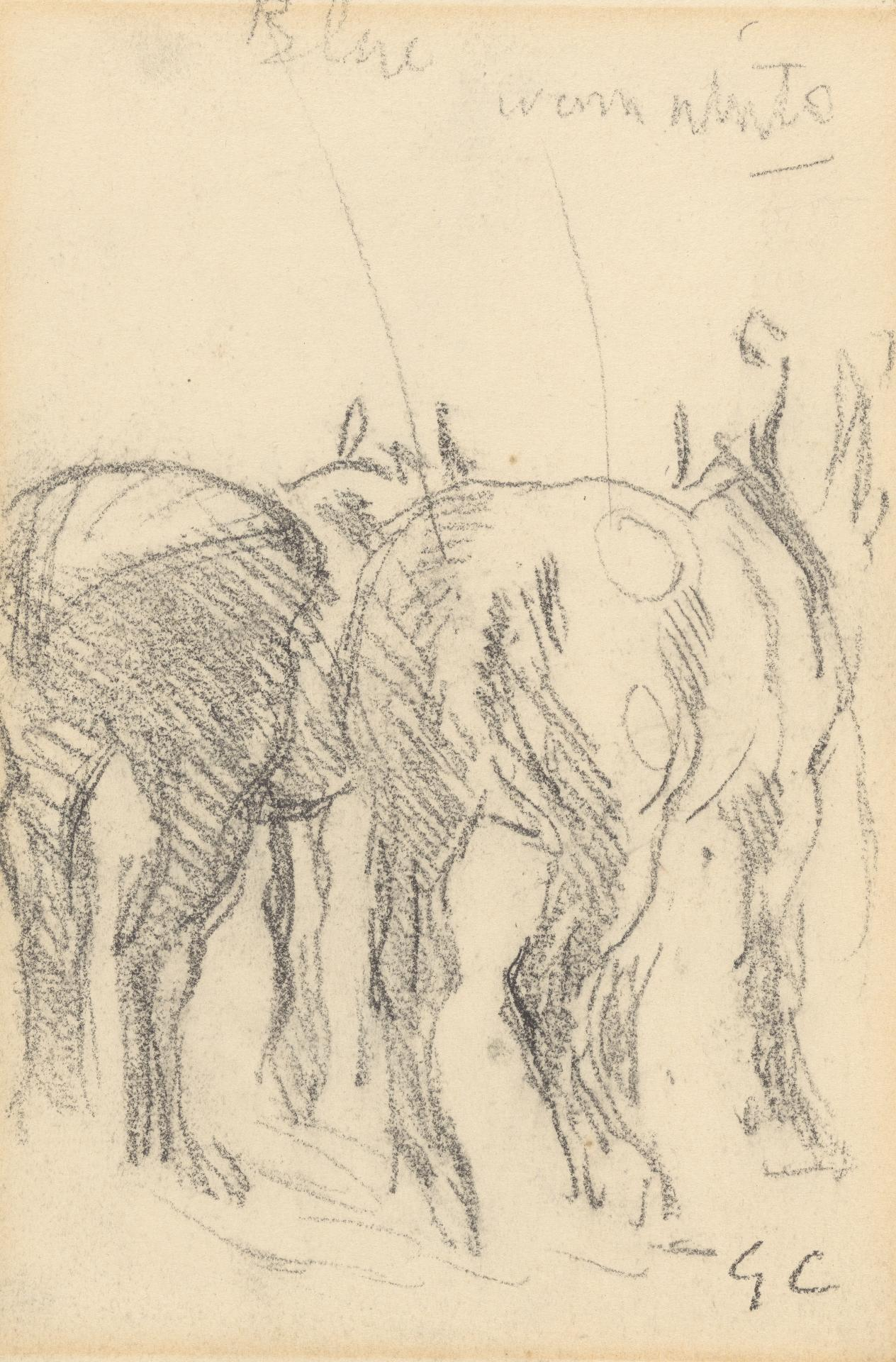 Study of two horses; for the Ploughman's Breakfast