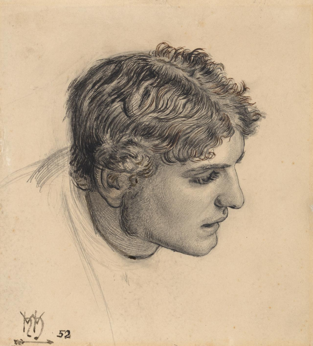 Head of a man (Study for The Hireling Shepherd)