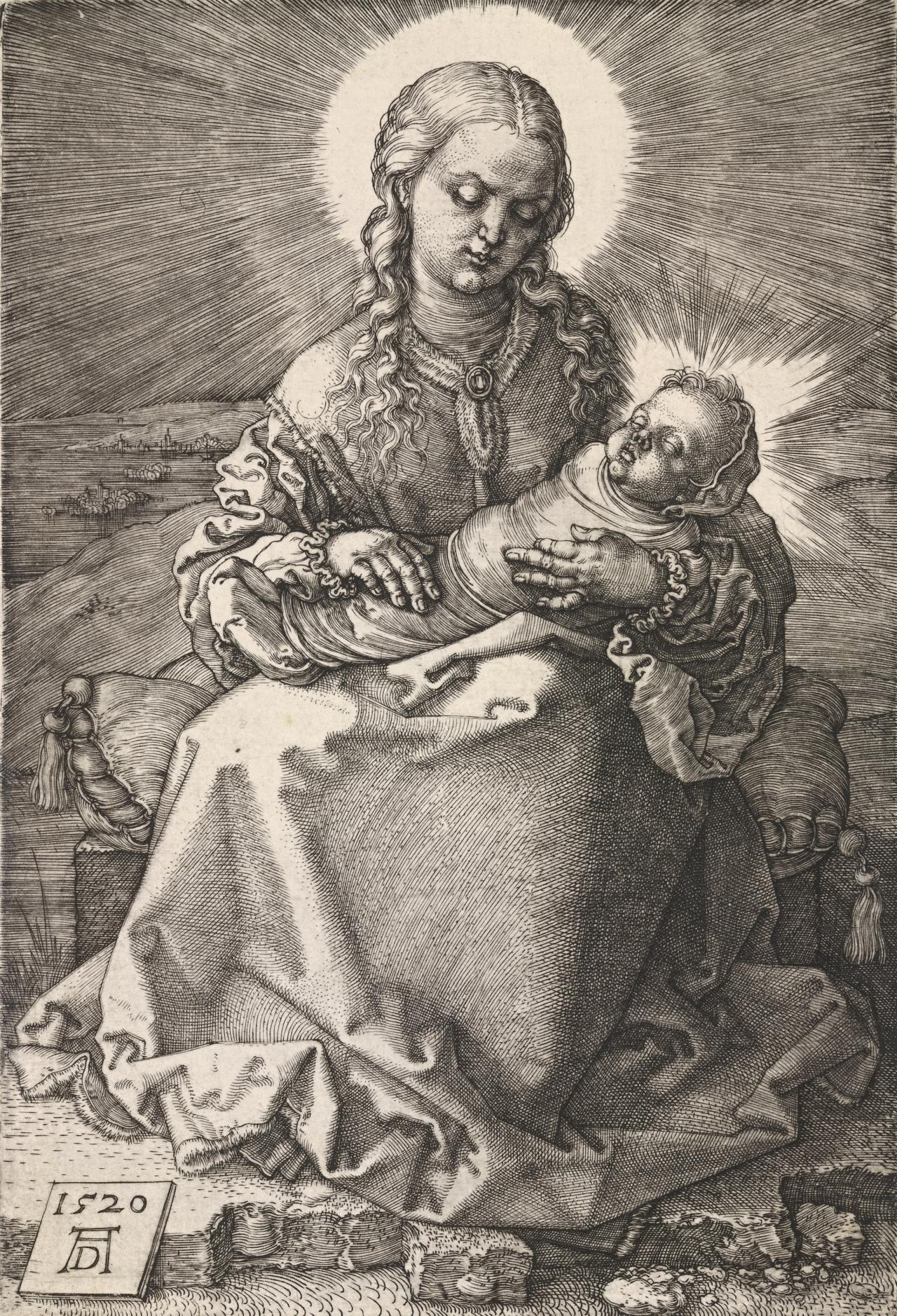 The Madonna with the swaddled infant