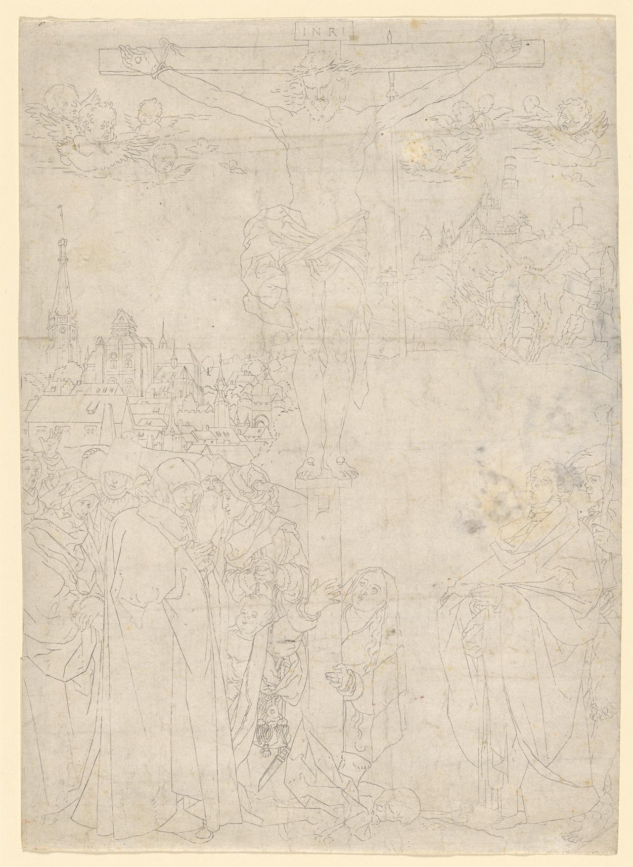 Crucifixion with Many Figures (The Crucifixion in Outline)
