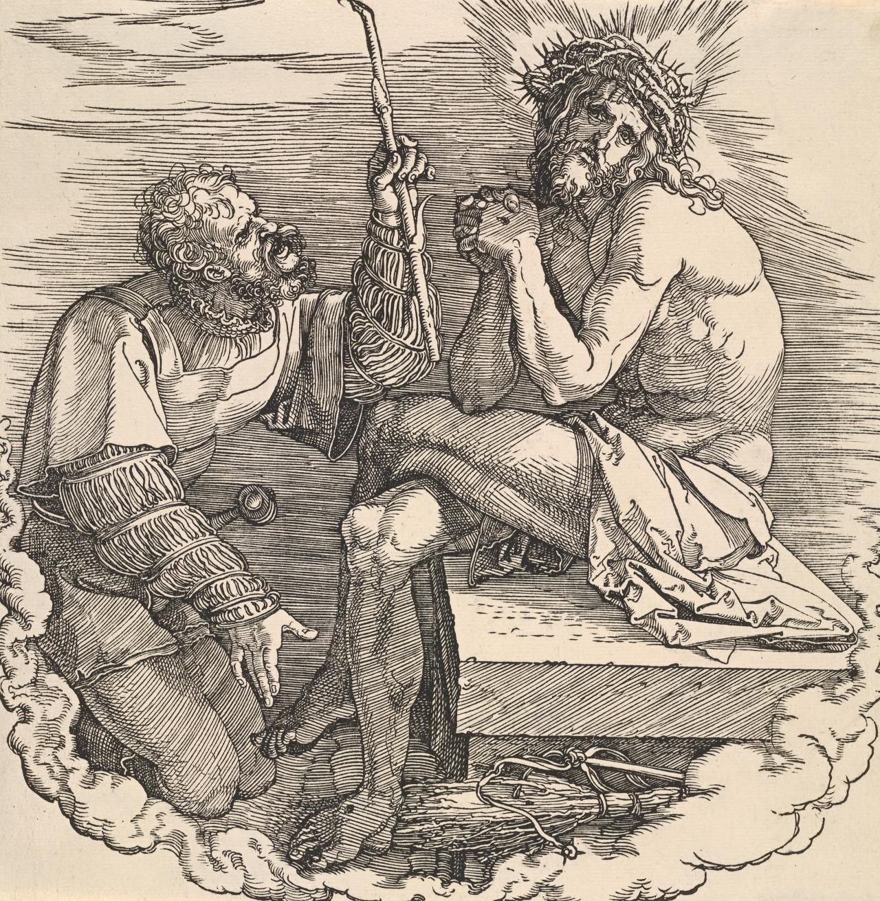 Christ, Man of Sorrows, mocked by a soldier
