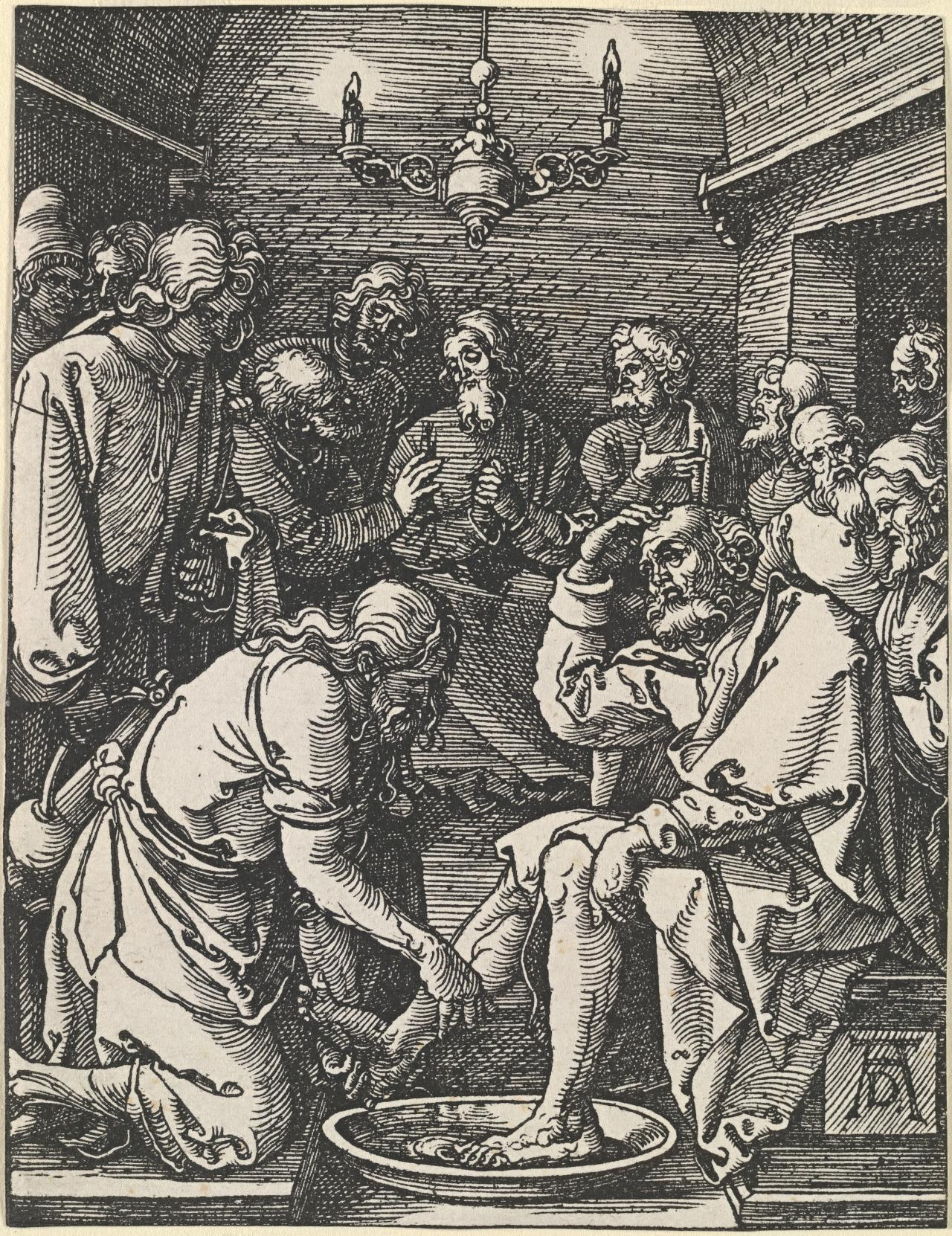 Christ washing St Peter's feet