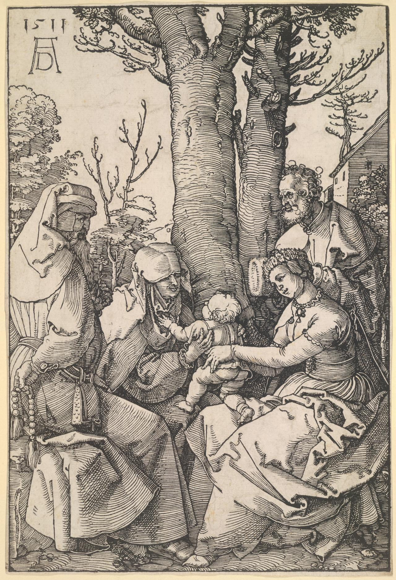 The Holy Family with Joachim and St Anne
