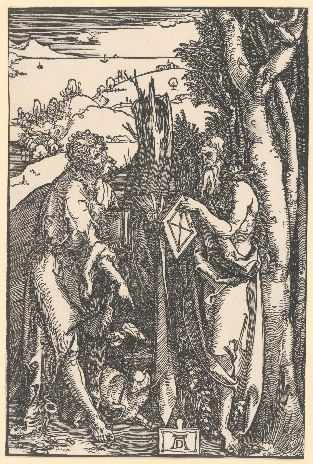 John the Baptist and Saint Onuphrius in the Wilderness