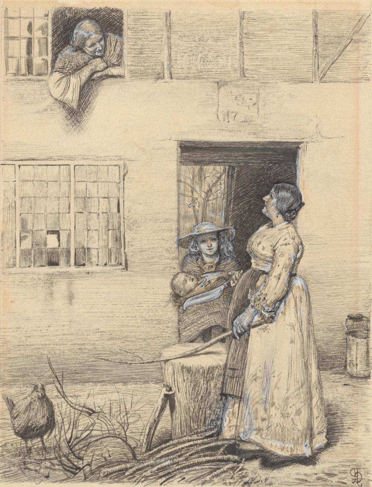 Illustration to a poem by Robert Buchanan