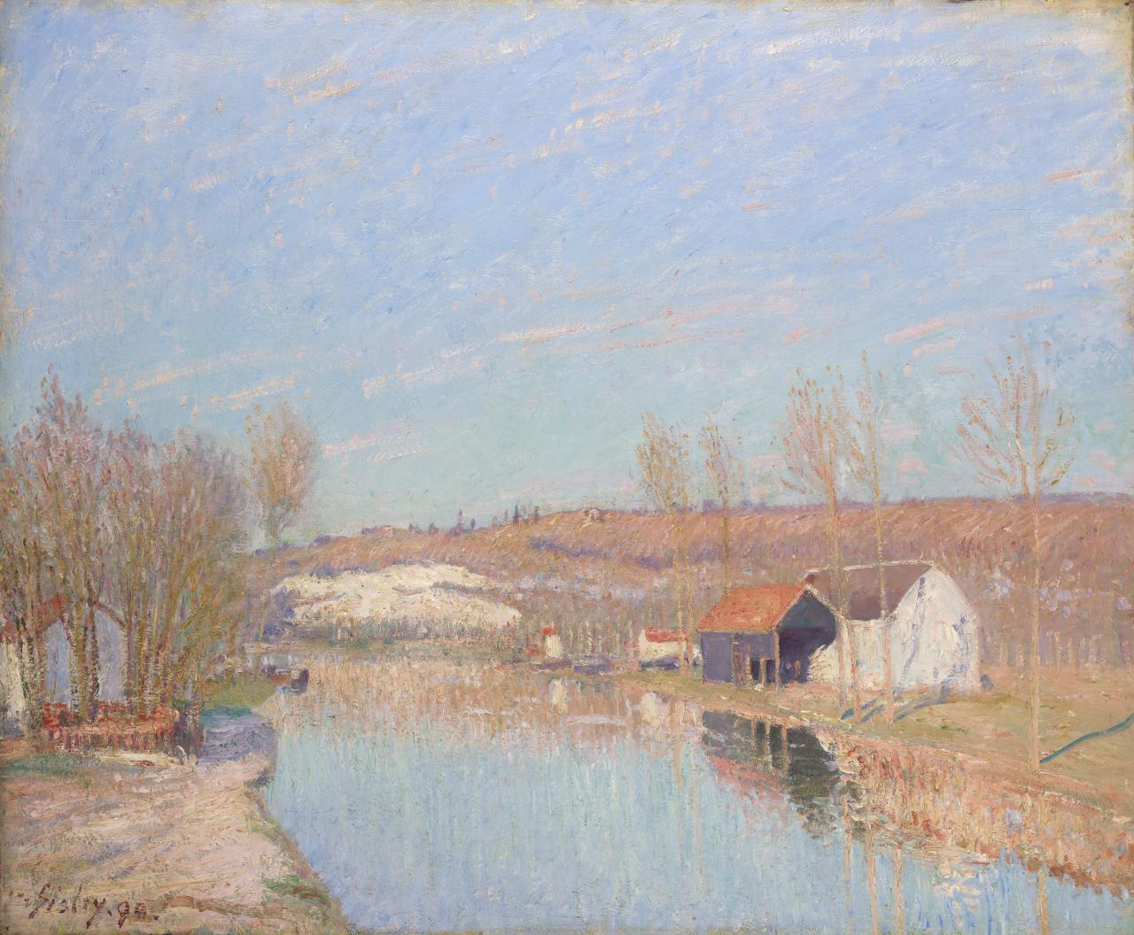 The Loing and the slopes of Saint-Nicaise - February afternoon