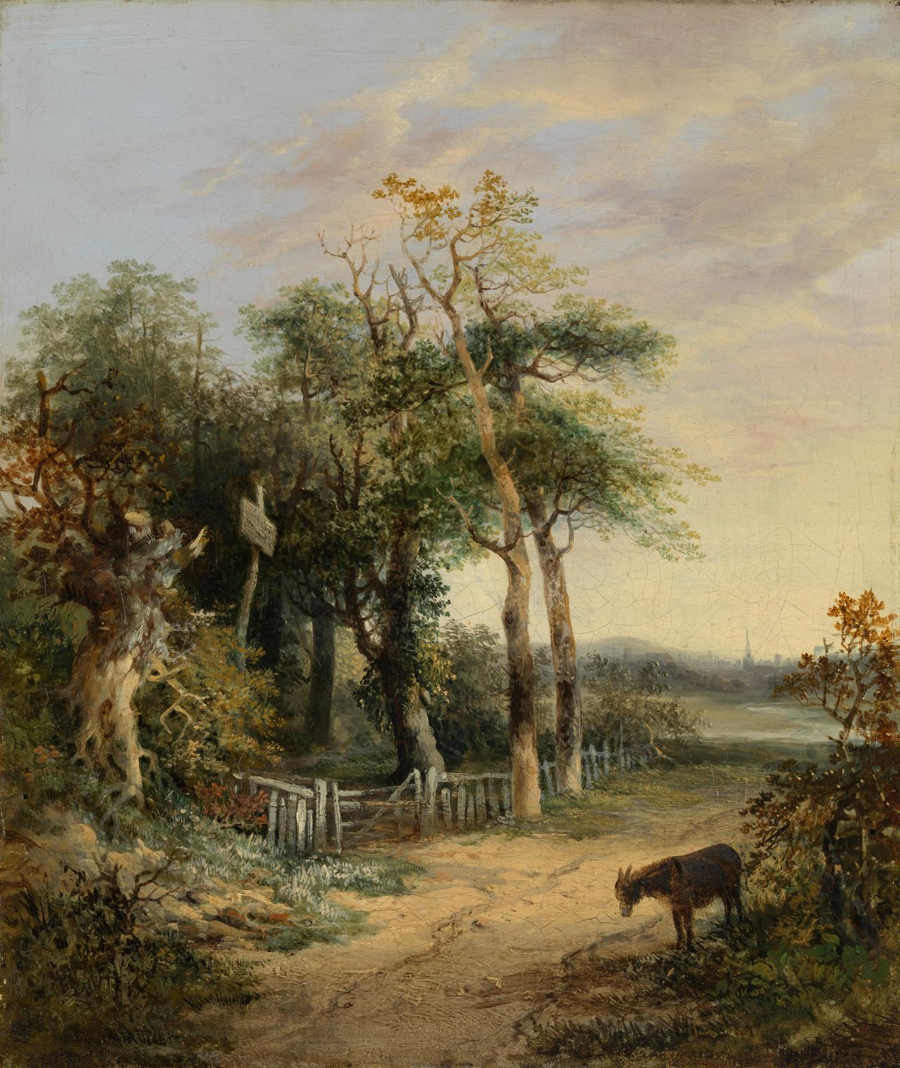Landscape with a donkey