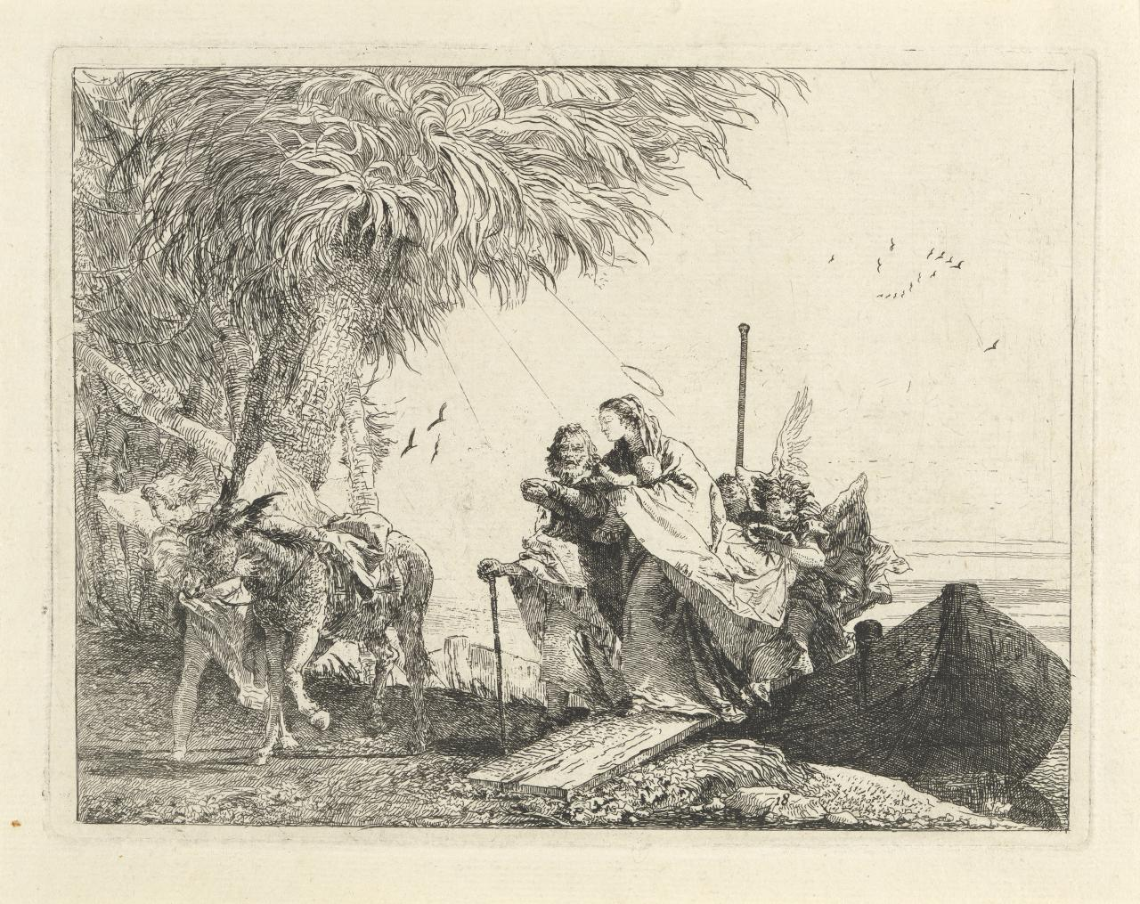 The Holy Family disembarking (Flight into Egypt)