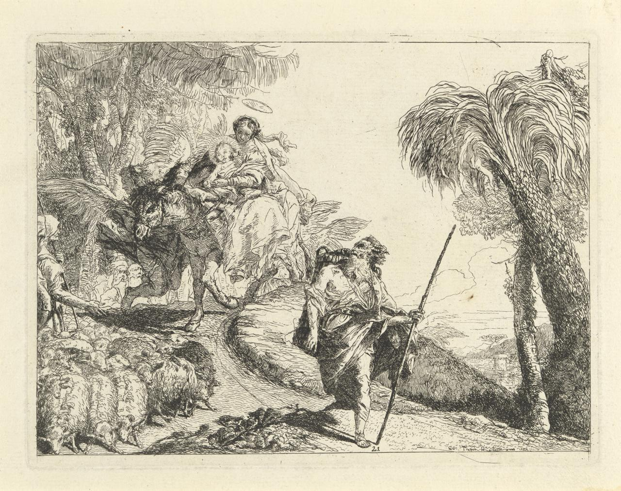 The Flight with Joseph in the foreground (Flight into Egypt)
