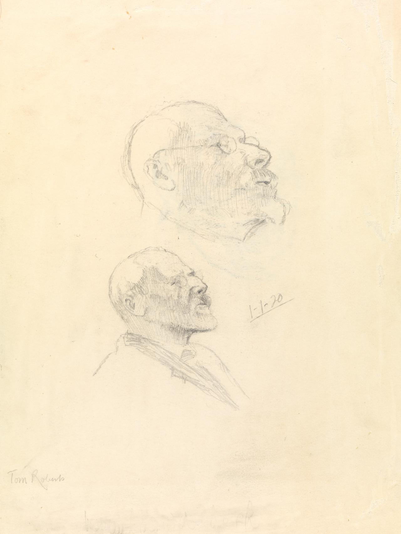 Two self-portrait sketches