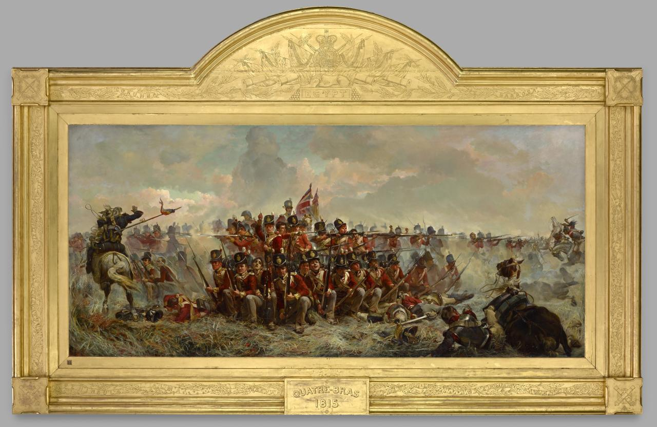 The 28th Regiment At Quatre Bras Elizabeth Thompson