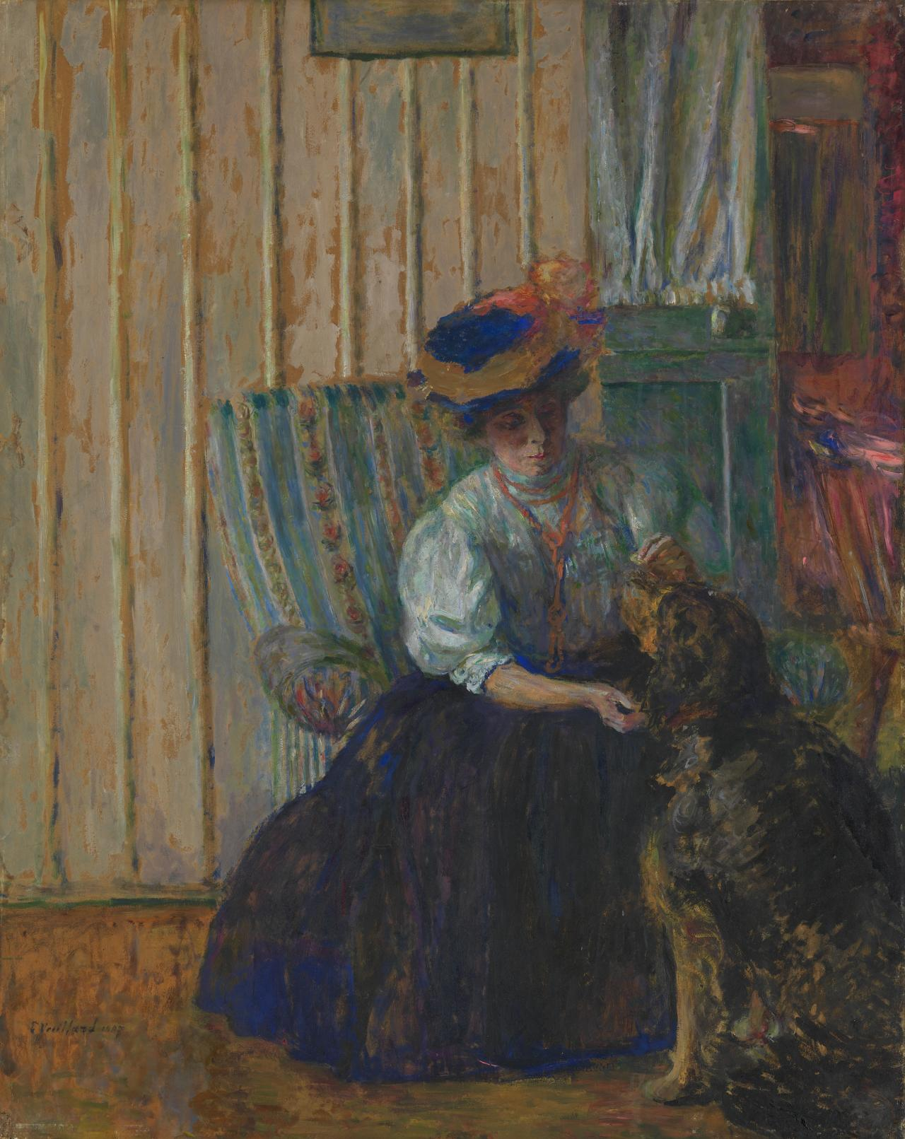 Mme Bonnard with her dog at rue Drouai