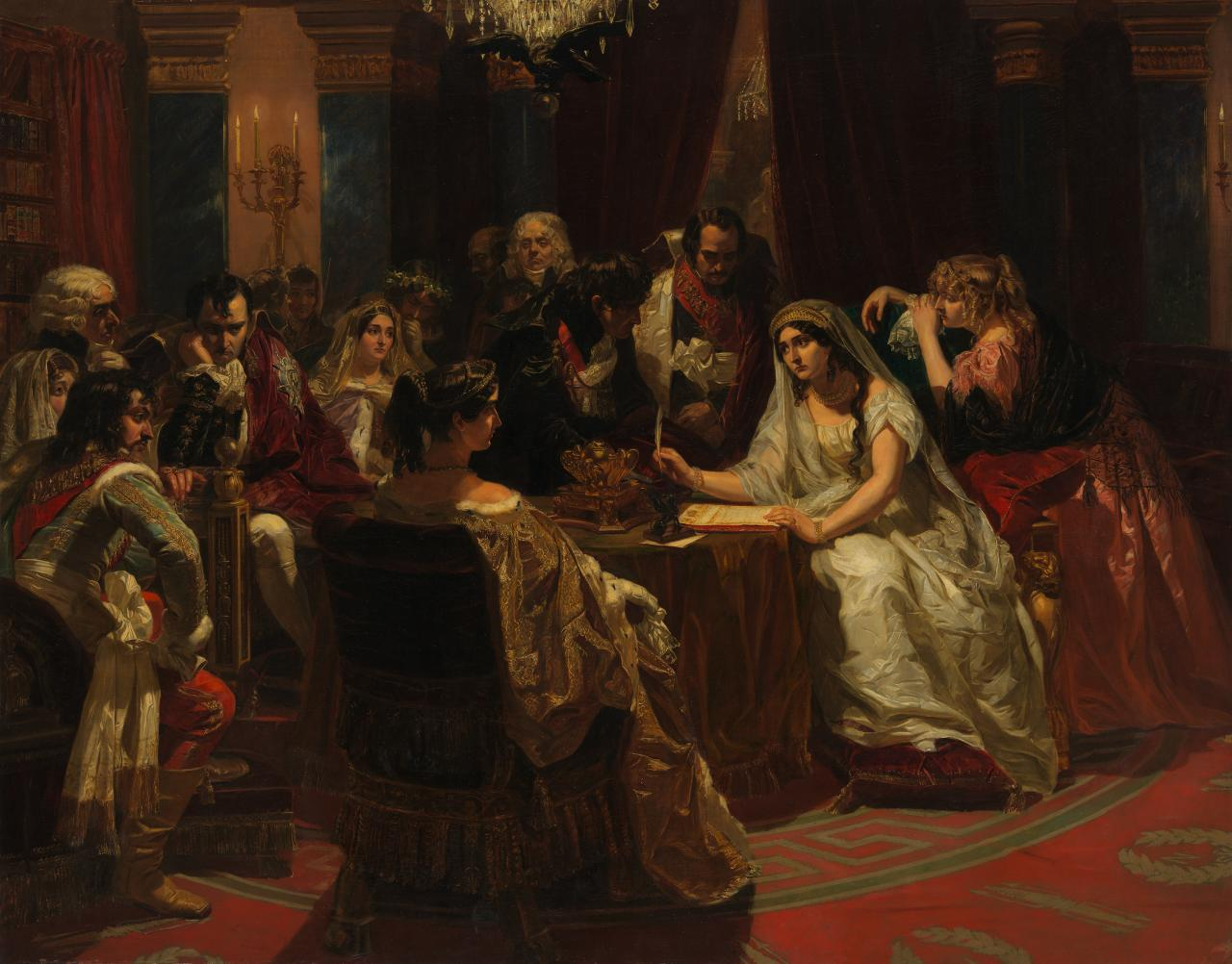 Josephine signing the act of her divorce