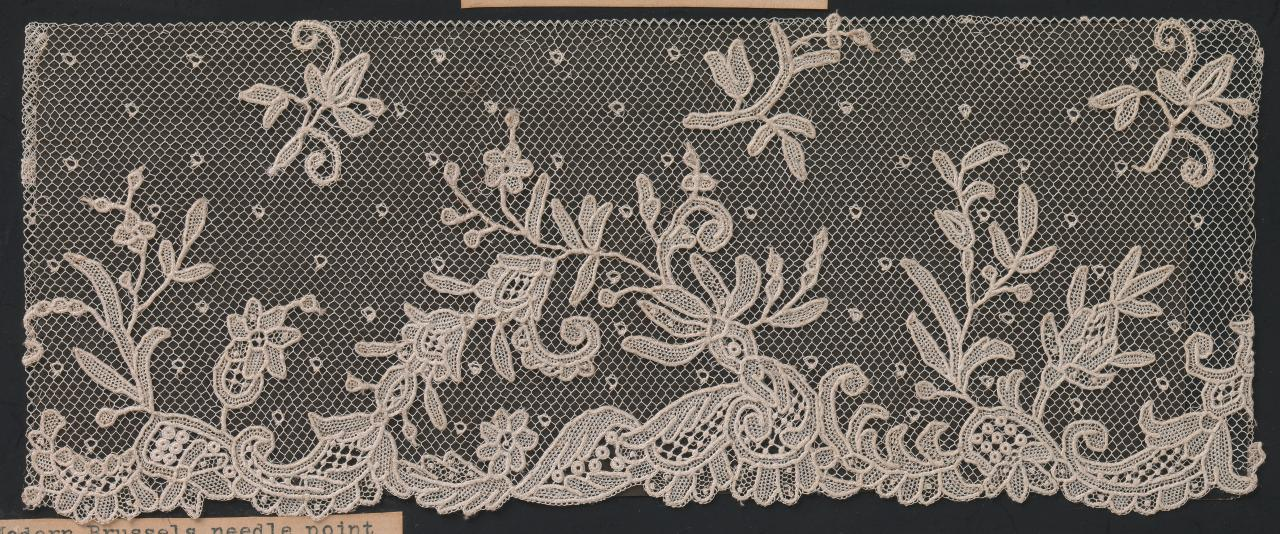 Brussels, needle-point appliqué lace