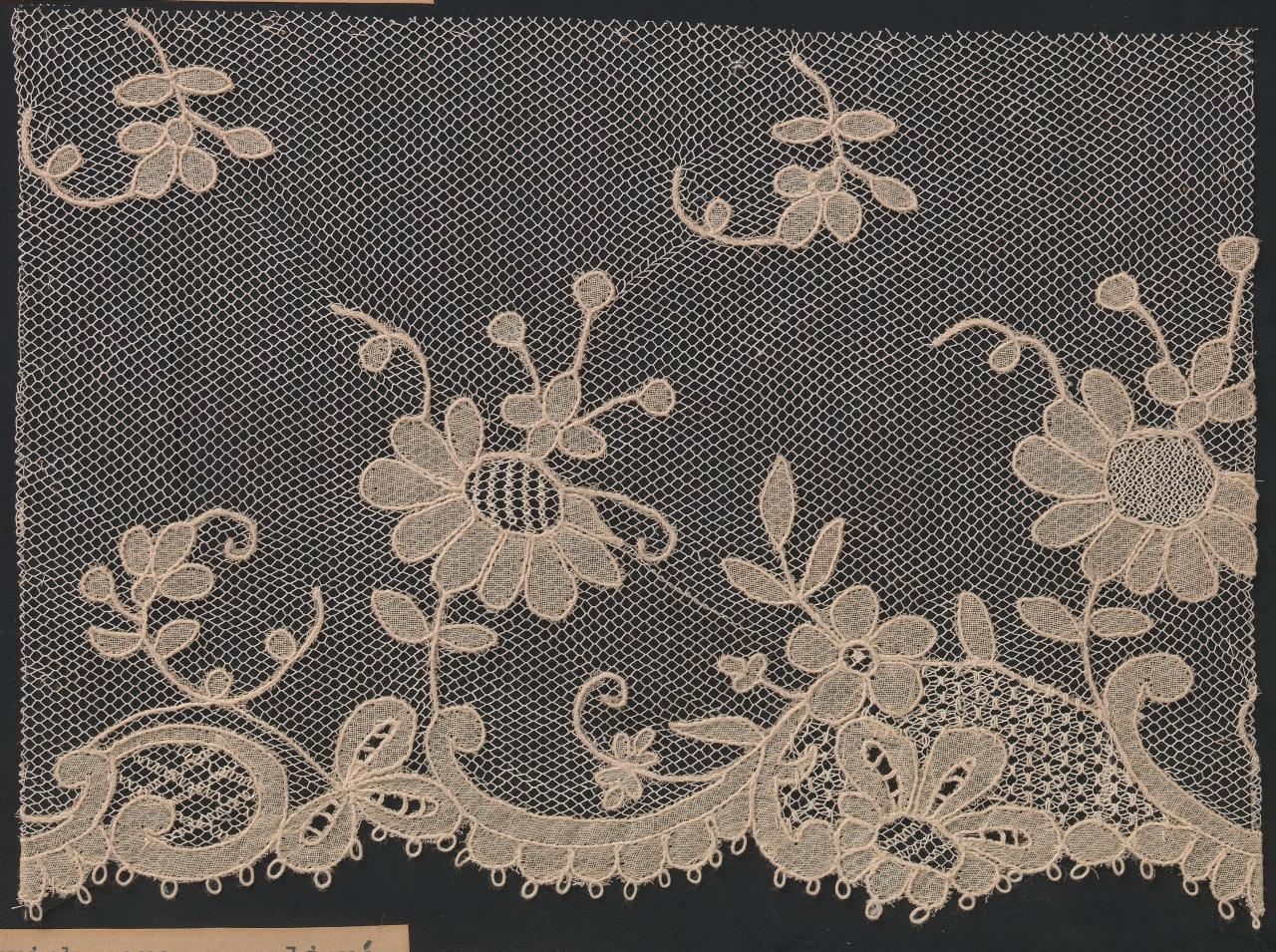 Carrickmacross appliqué lace