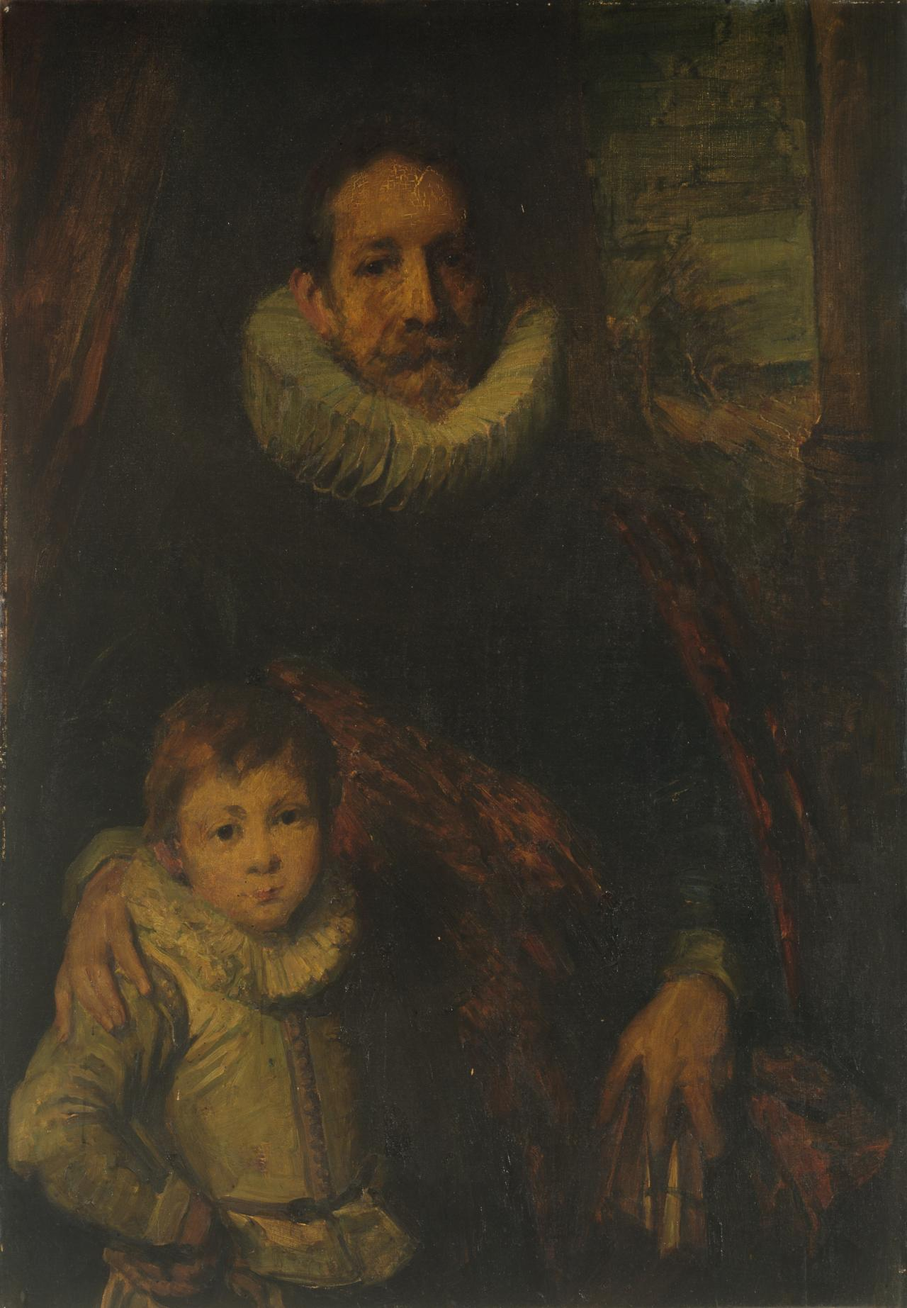 Portrait of Jean Grusset Richardot and son