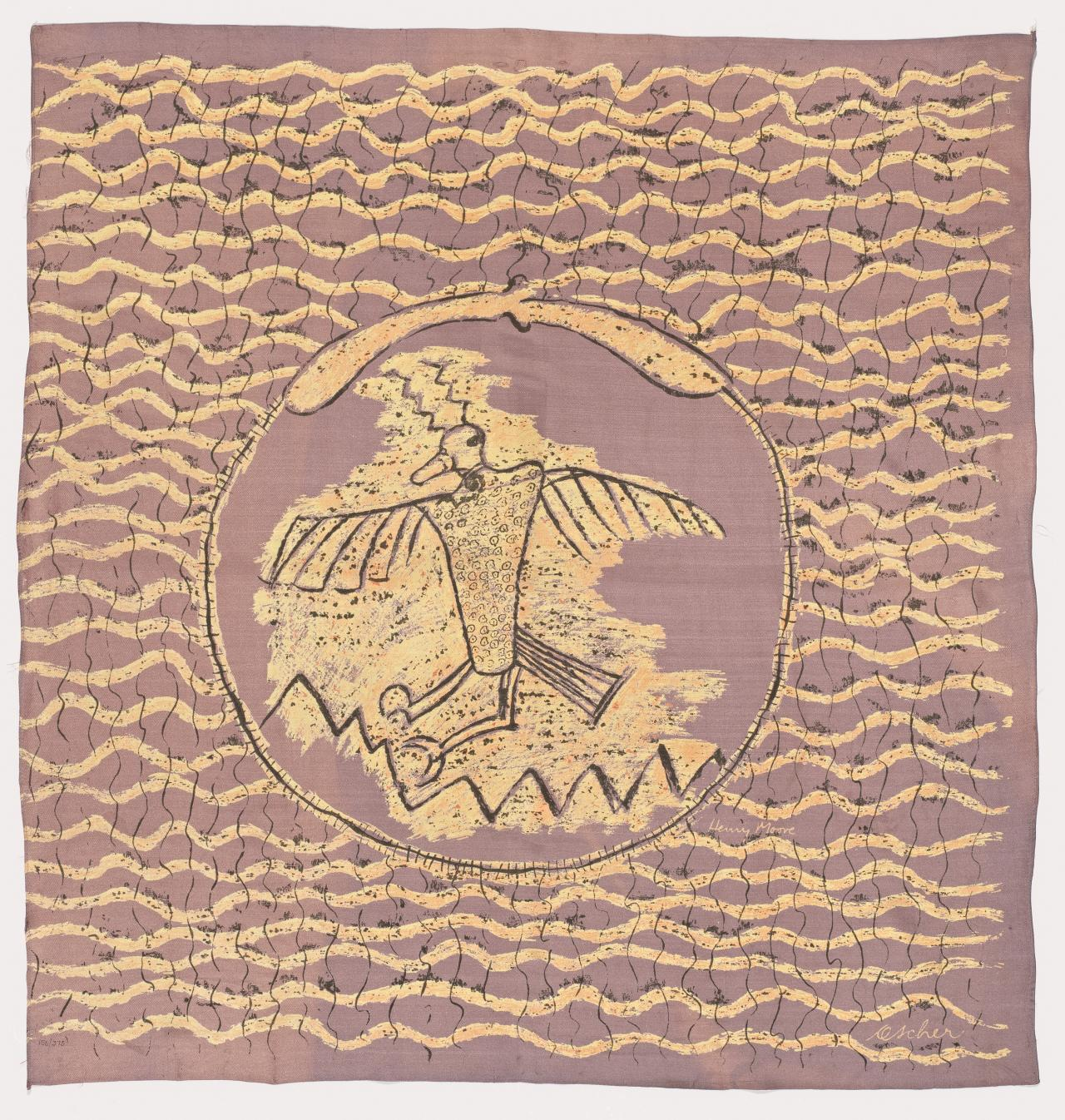Scarf (Entitled: Bird Design)