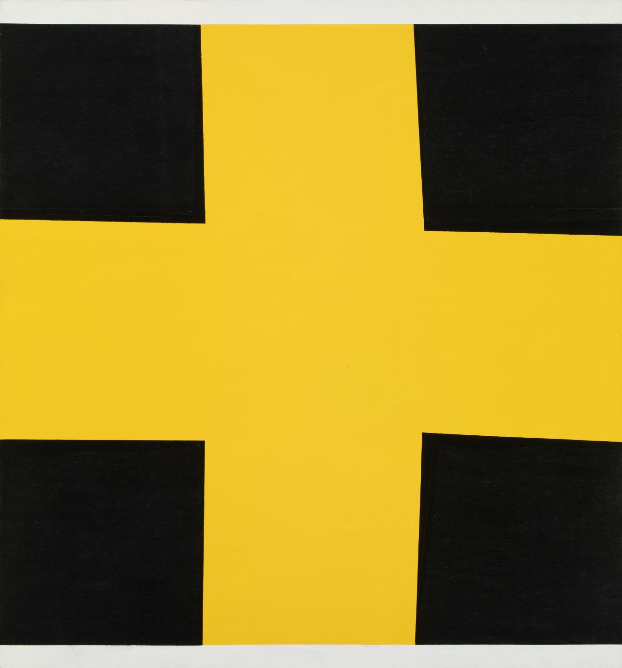 Self Portrait (non-objective composition) (yellow cross)