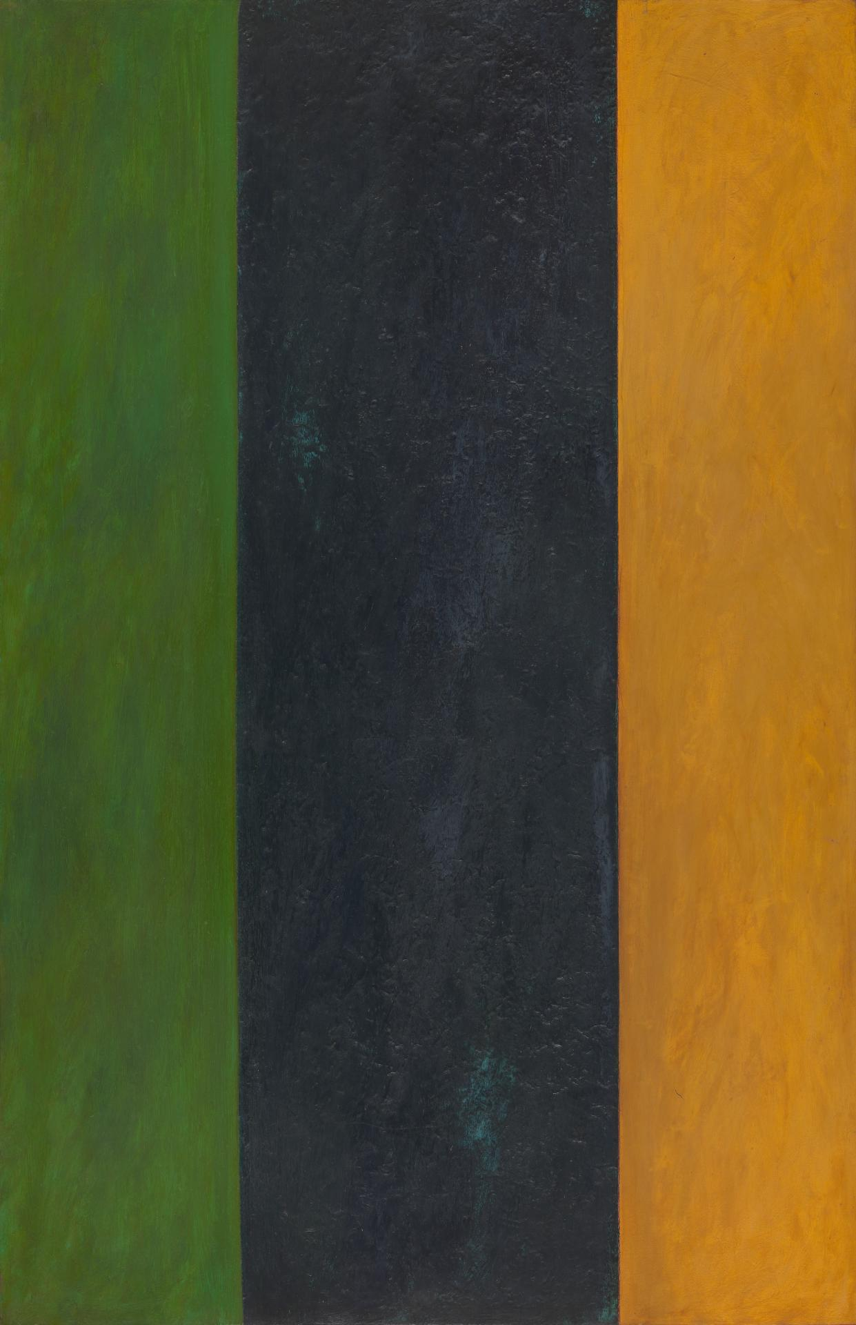 Untitled (Ochre, black, green)