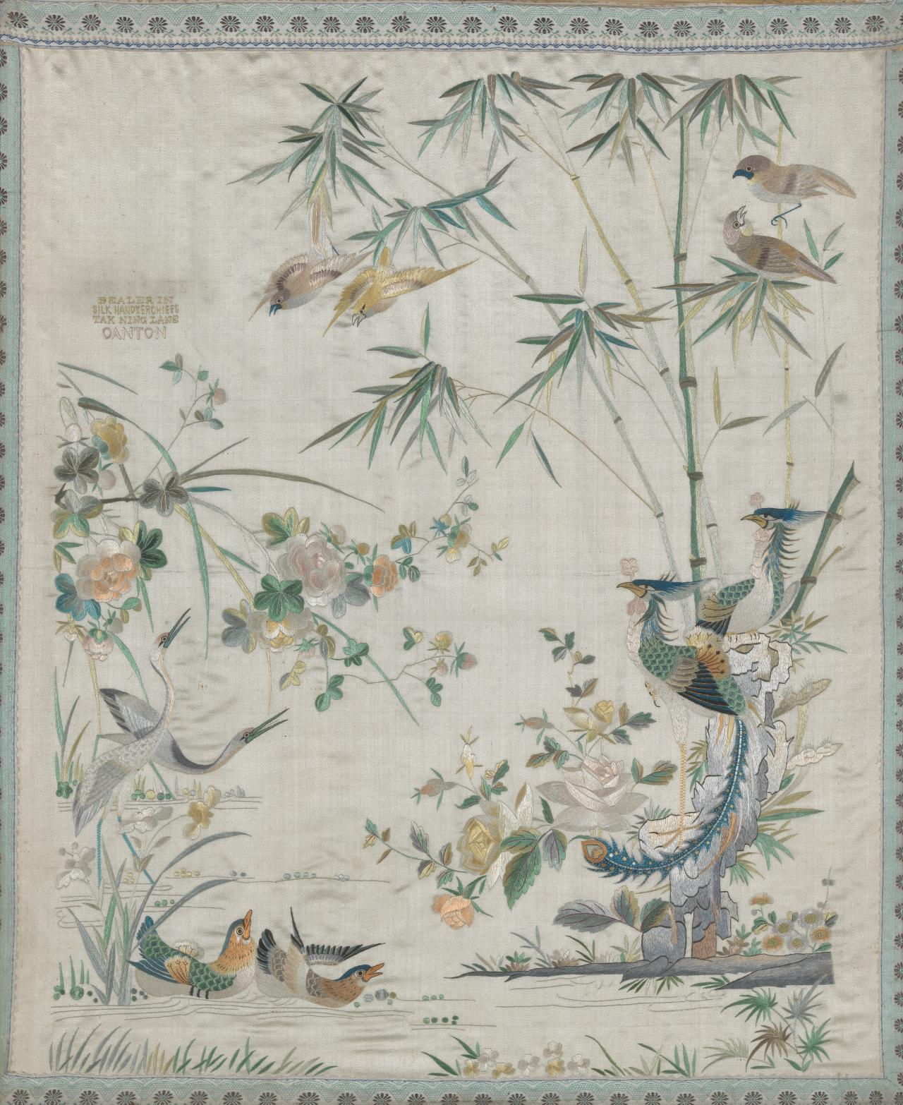 Auspicious birds and flowers