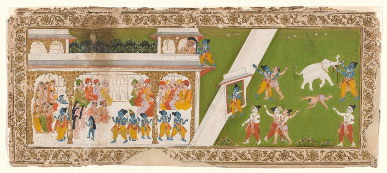 The childhood of Krishna and the destruction of Kansa