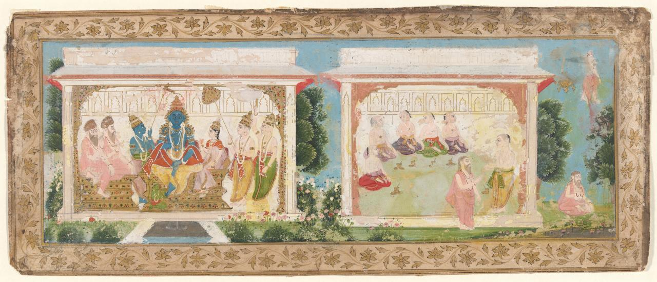 The crowning of Rama and Sita