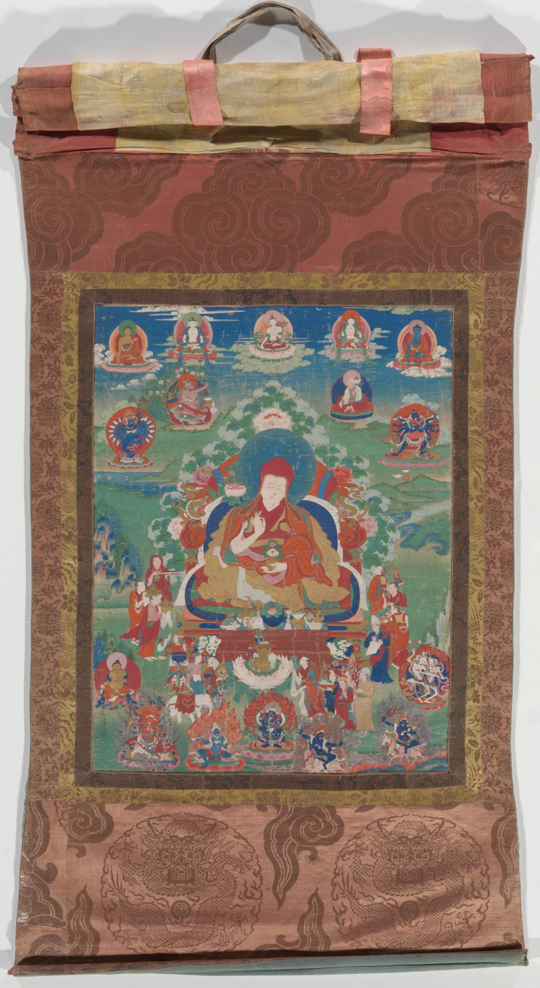Thangka depicting a monk of the Sakya sect