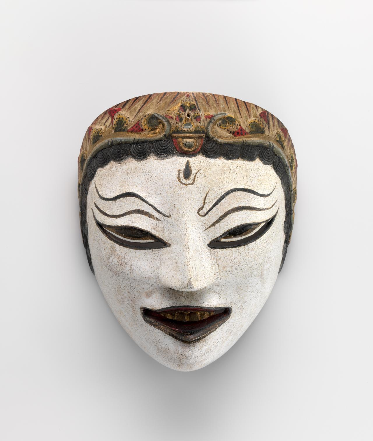 Mask (Topeng) for Raden Panji, Prince of Janggala Kingdom