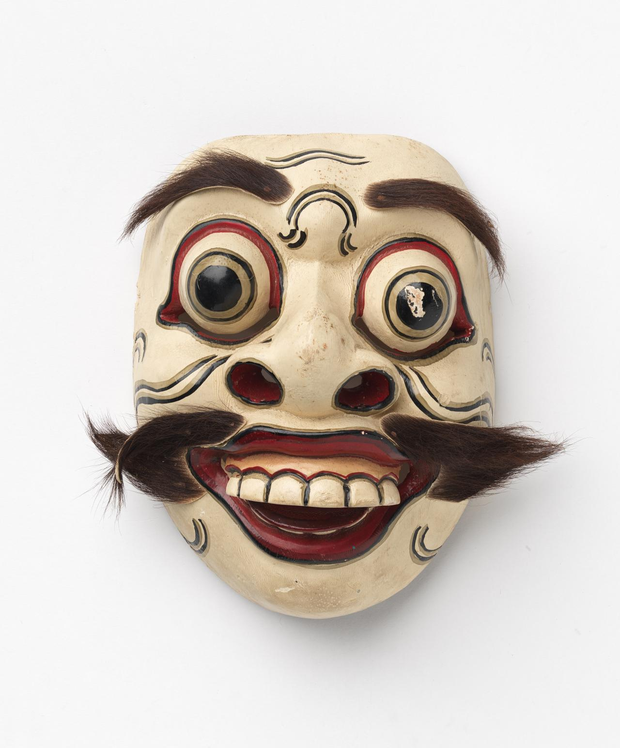 Mask (topeng) for a wayang topeng dance drama