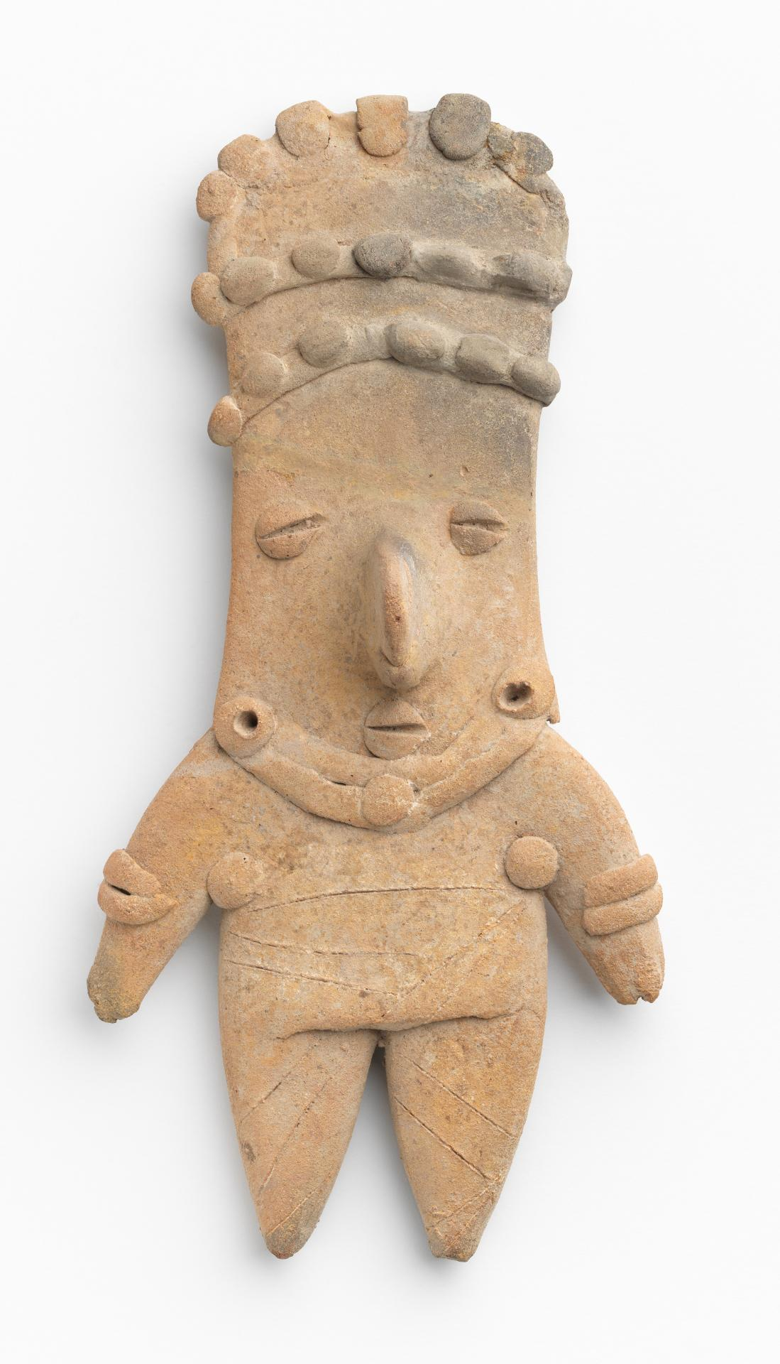 Flat figure with headdress