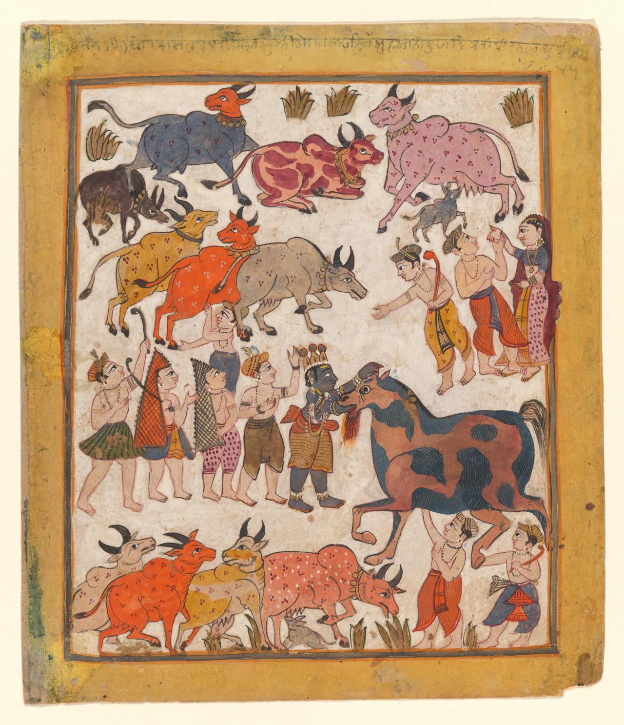 Krishna slaying the horse demon, Keshi