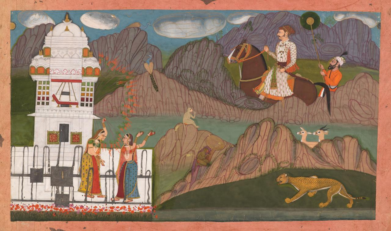 A Raja and a Pining Lady
