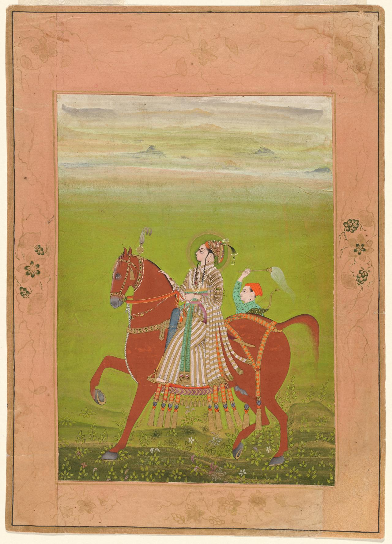Prince Zorawar Singh of Bikaner riding