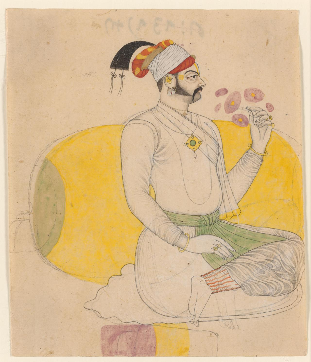 A seated nobleman