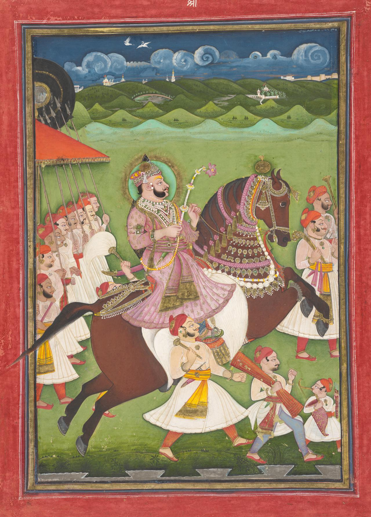 Maharao Ram Singh II of Kotah riding