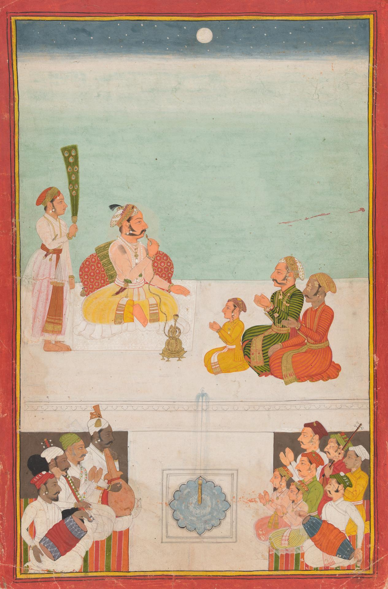 Maharana Amar Singh II listening to music at night