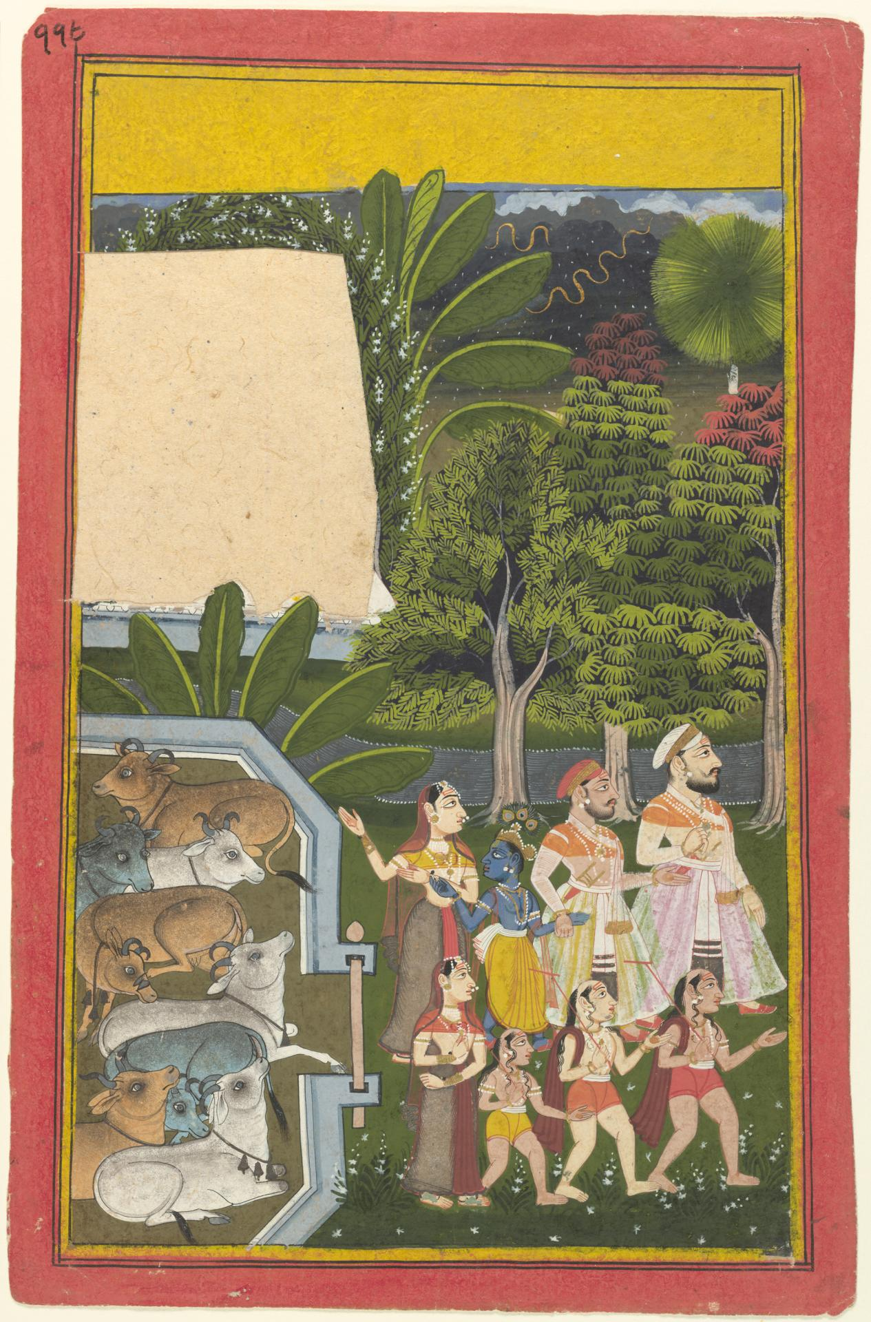 Krishna at the cattle-byre
