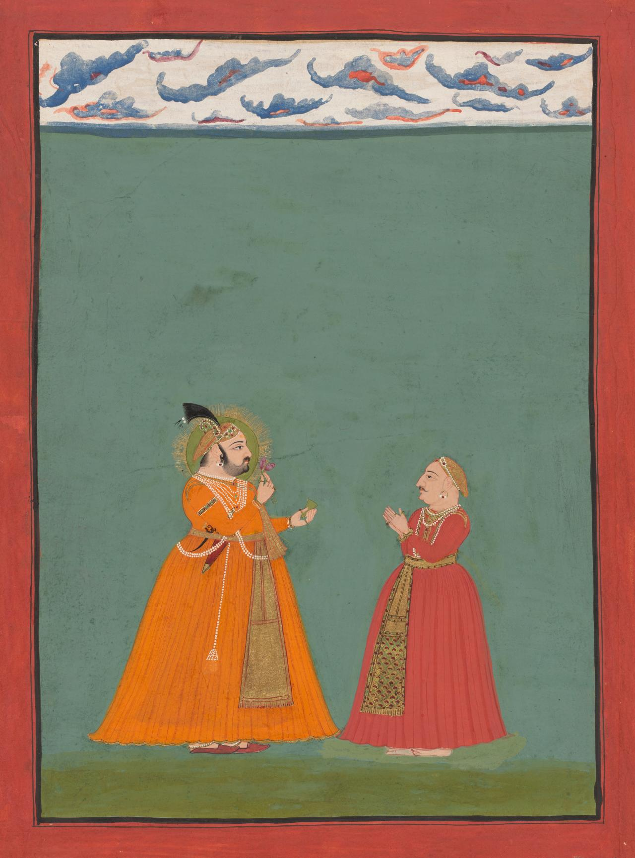 Maharana Jagat Singh II with a sarder