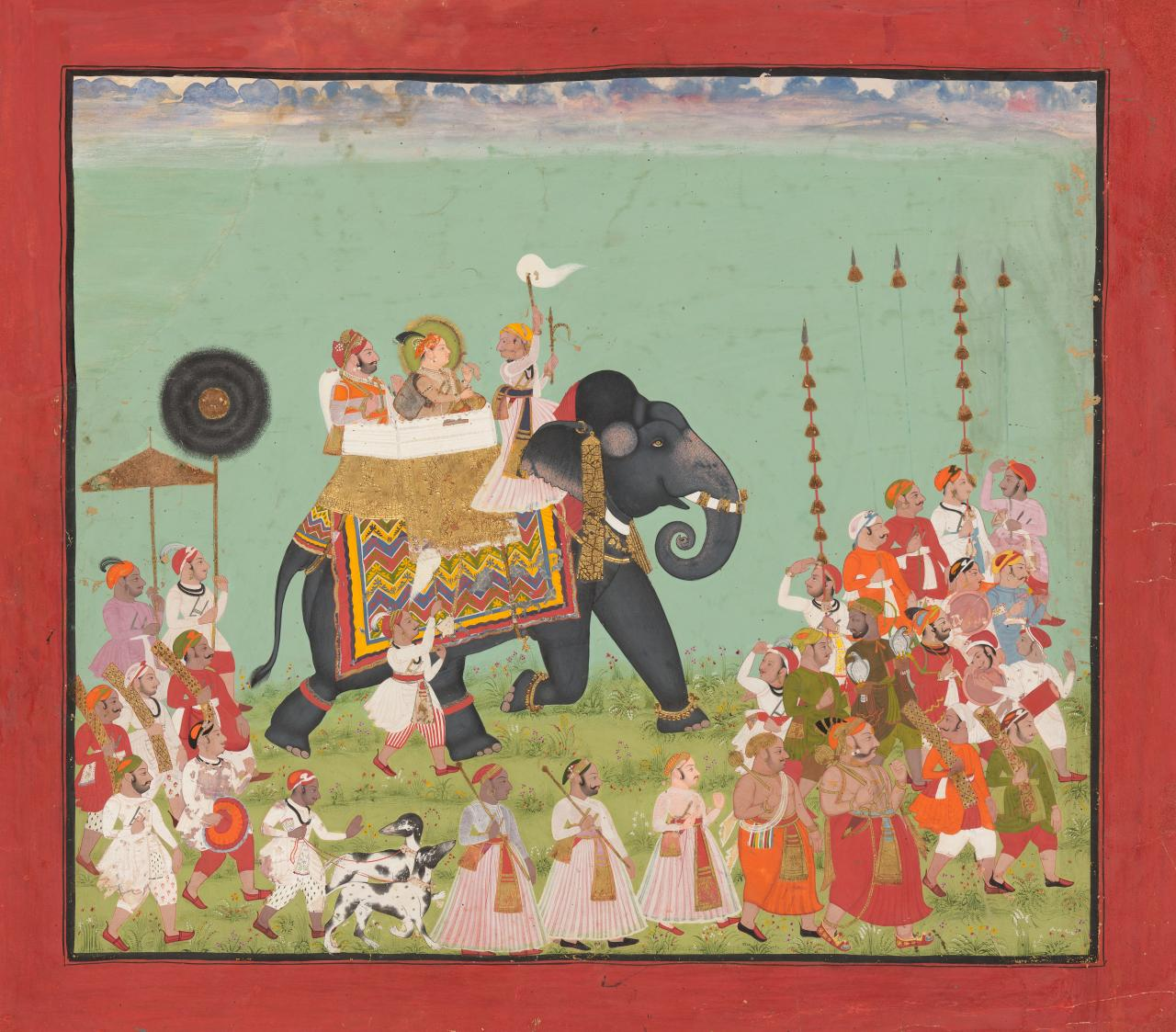 Maharana Raj Singh II riding an elephant