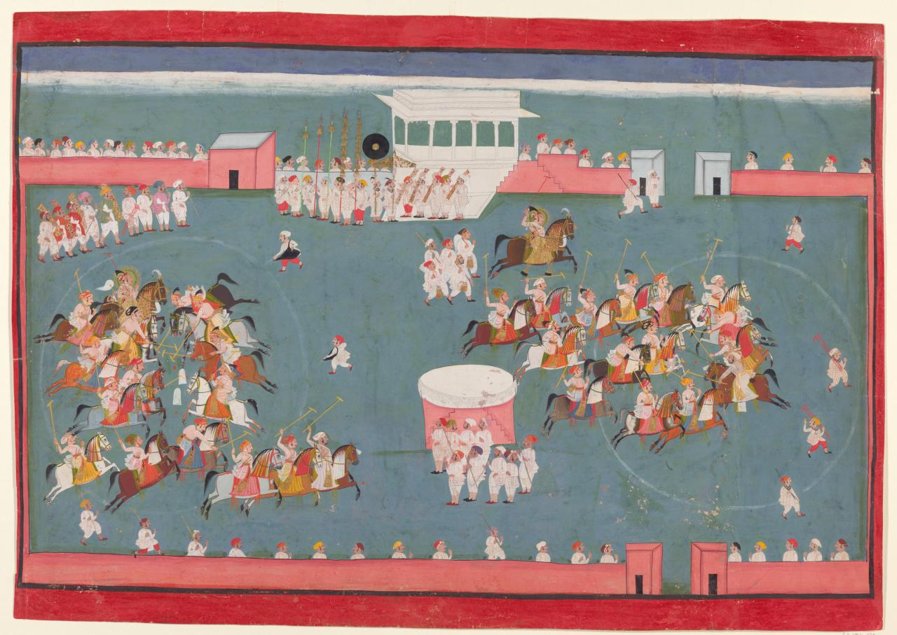 Maharana Ari Singh II playing polo