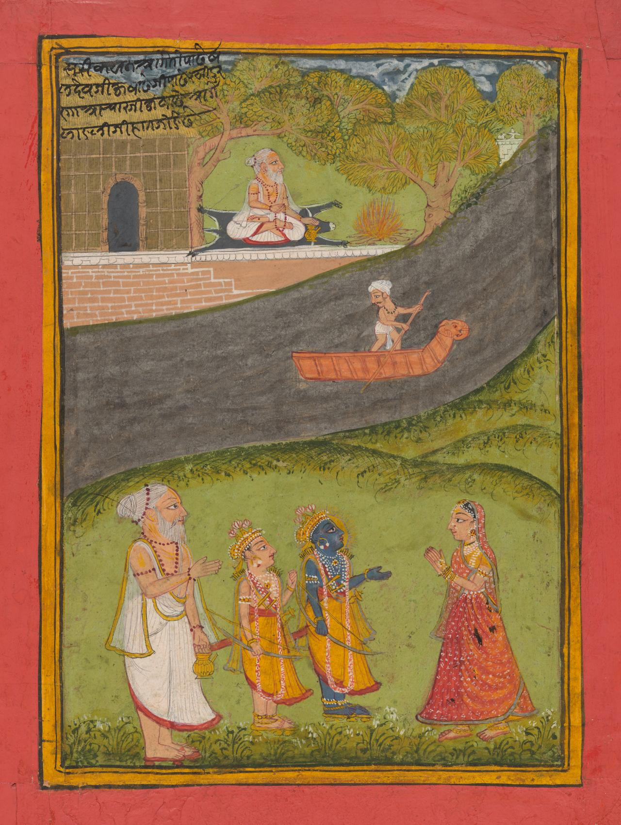 Rama and Lakshman at a riverside ashram