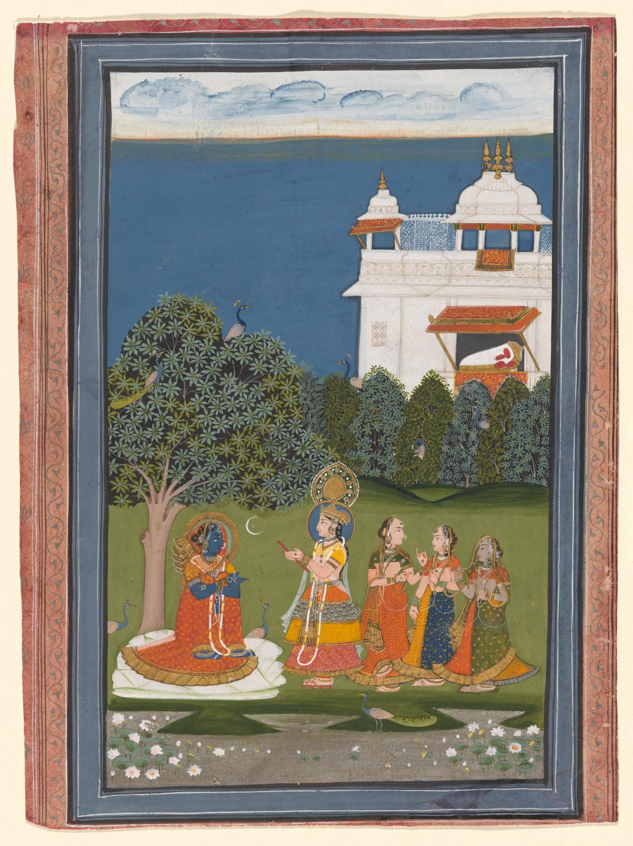 Radha and Krishna exchange clothes