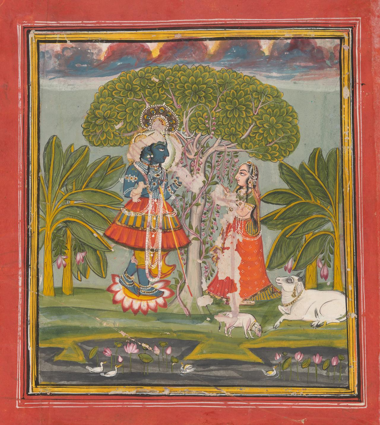 Krishna and Radha on the riverbank