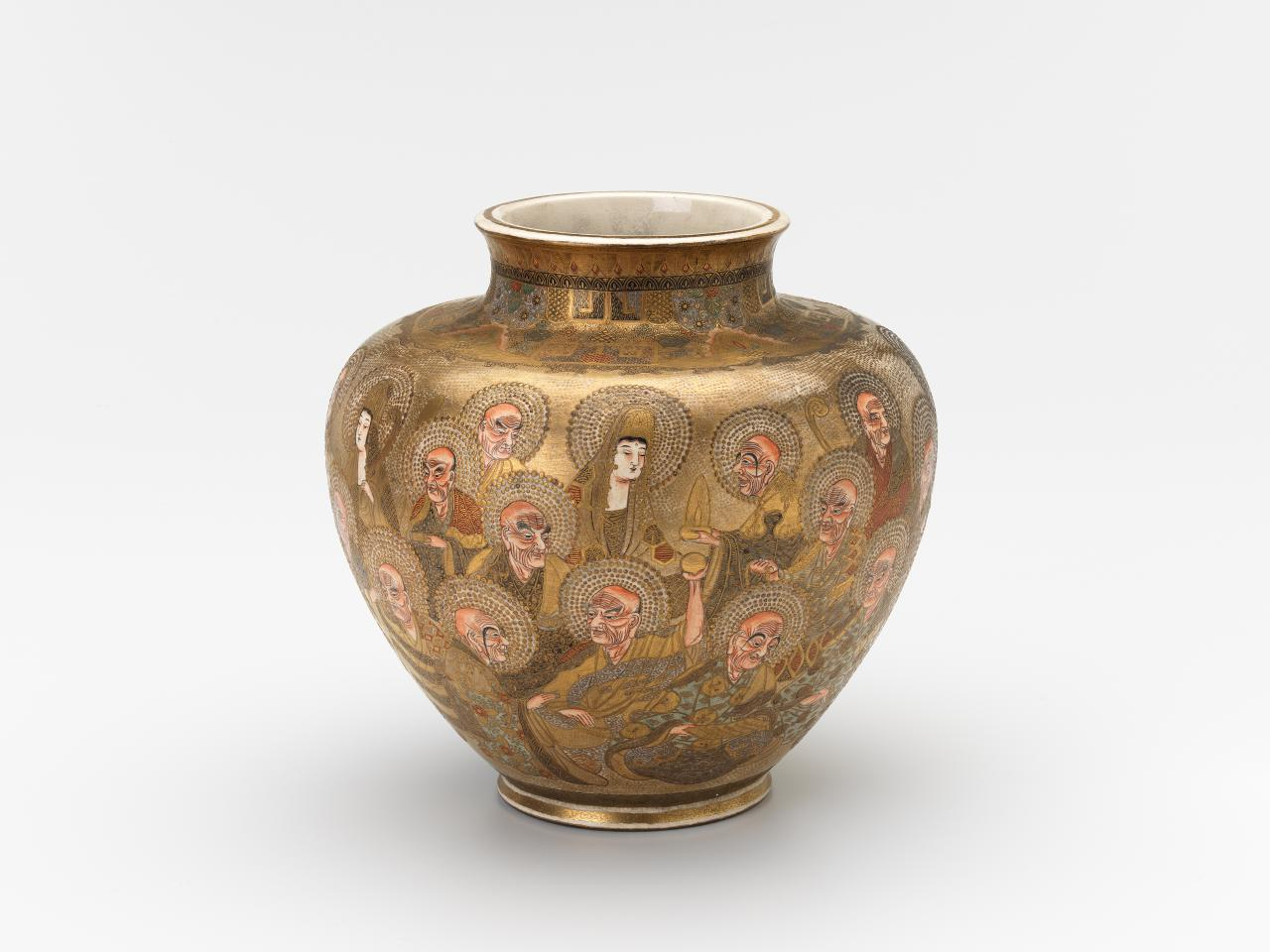 Jar with arhats